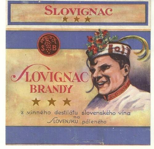 Etiketa Brandy Slovignac Slovensko