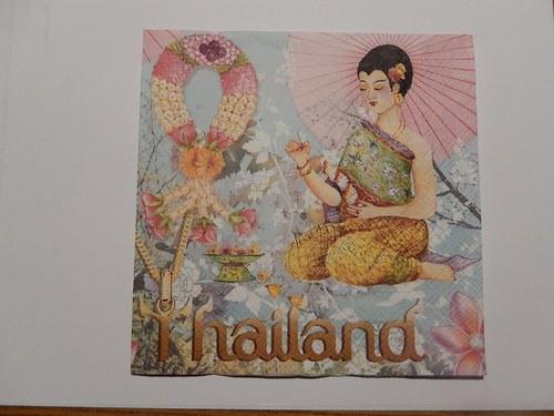 Ubrousek na decoupage - Thajsko