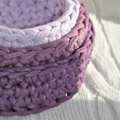 Bavlněné košíky fialové