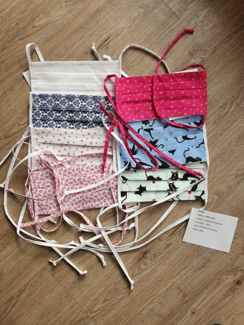 Rouška bavlna 100% výběr barev - dvouvrstvá