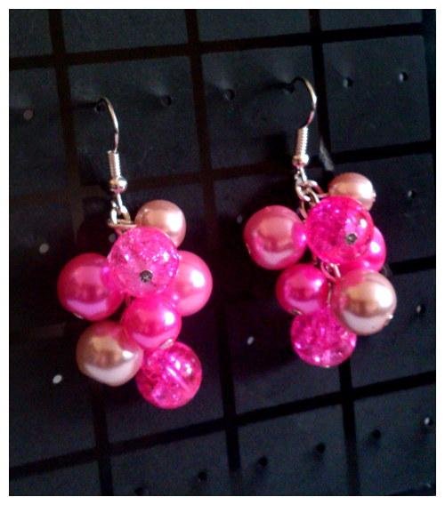 Náušnice v odstínu růžové