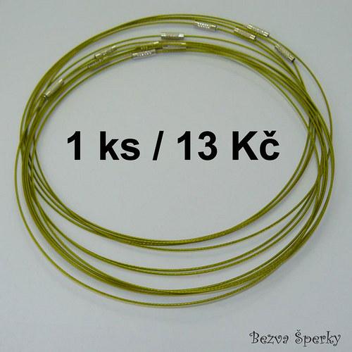 Žlutozelená obruč se šroubovacím zapínáním, 1 ks