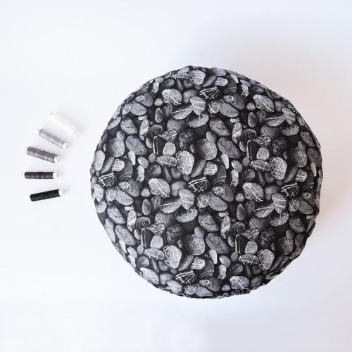 Oblázkový černý, Ø 40 cm - meditační polštářek