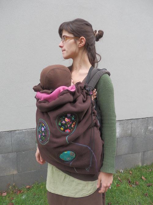 Teplá kapsa na šátek na nošení dětí -na přání 5
