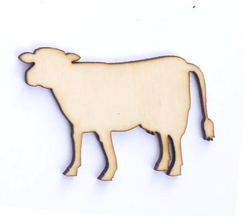 Krávička ze dřeva (obrys) - šíře 5 cm