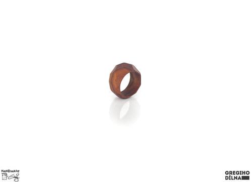 """Prsten \""""geometrický\"""" dřevěný (UNISEX)"""