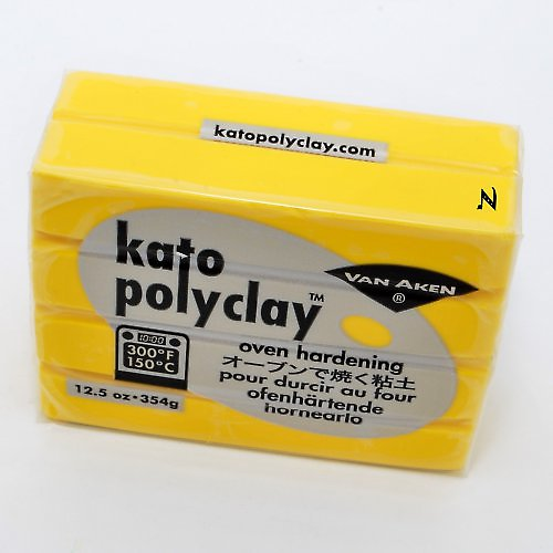 Kato Polyclay velké balení / Žlutá