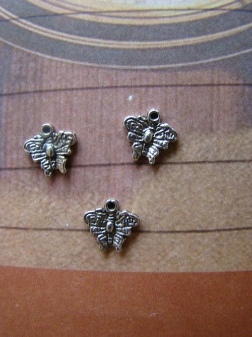 Kovový komponent - motýlek/5ks