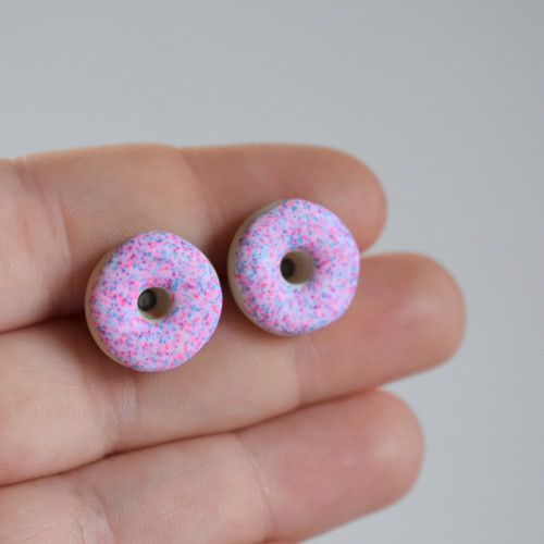 Donuty náušnice - Chirurgická ocel