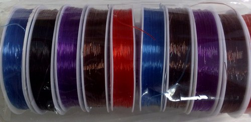 Silikonový vlasec pružný 0,6 mm fialový