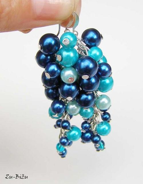 Modro tyrkysové:)