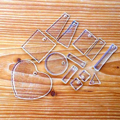 Sklíčka na Šperky č.2 - 13ks - AKCE