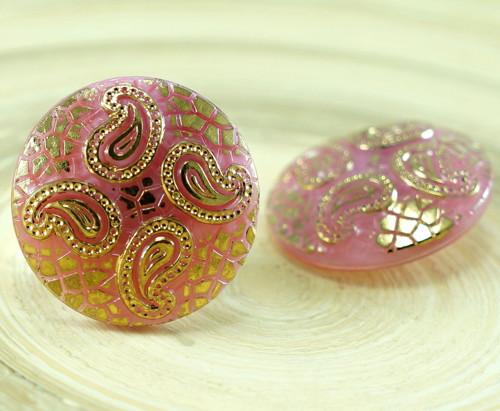 1ks Neprůhledné Valentine Pink Gold Leaf Hadí Kůže