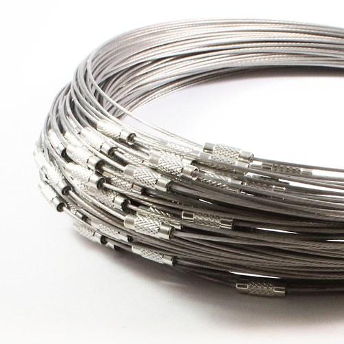Obruč z lanka 45,5 cm šedá 2 ks