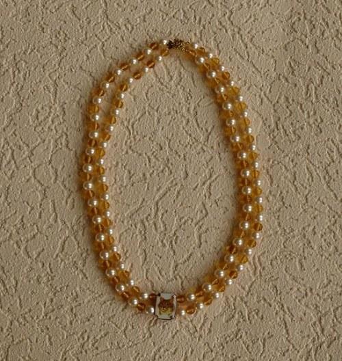 KOČIČKA  - náhrdelník dvouřadý