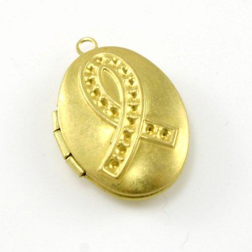 Zlatý otevírací medailonek - ovál
