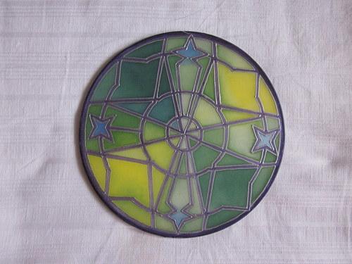 Malba na hedvábí Mandala IV.