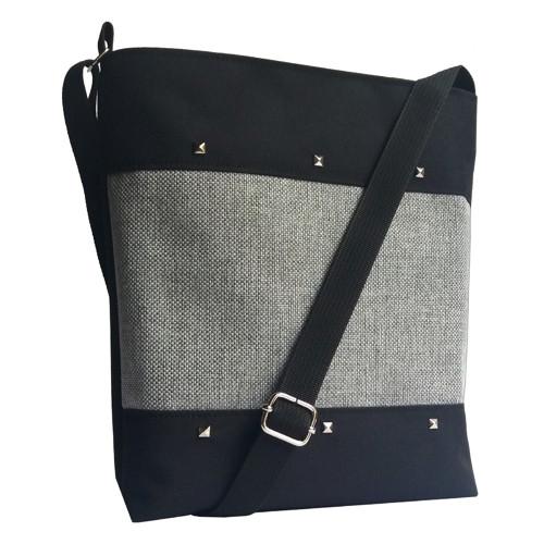 Black Lia (crossbody taška s pyramidkami)
