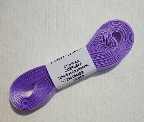 10 m taftové stuhy, barva ledově fialová