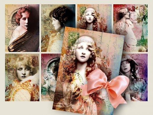 Nažehlovací obrázky - Krásky - cena za všechny