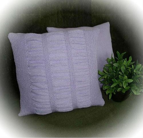 dva pletené polštářky-krep levandule