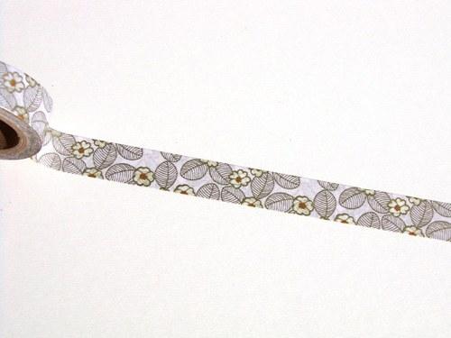 Páska: Zlaté kytičky s lístky (1,5 x 33 cm)