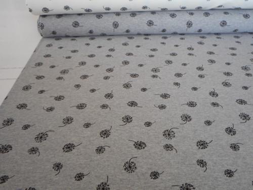 Teplákovina - pampelišky na šedé