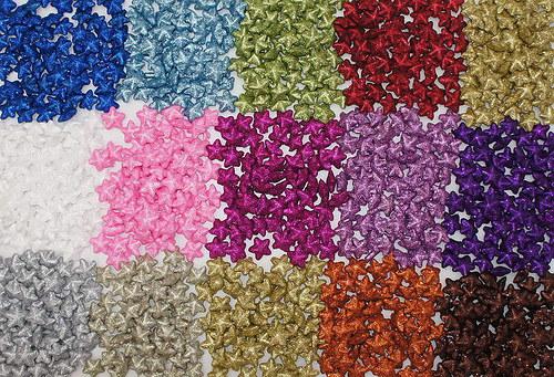 Hvězdička 2,5 cm - glitter bílá