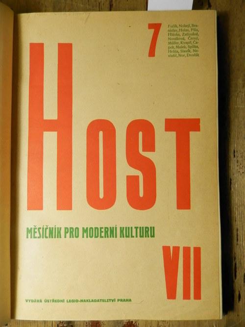 Host Měsíčník pro moderní kulturu, ročník VII.