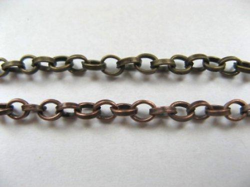 Řetízek AKT2902 - 50 cm - BRONZ