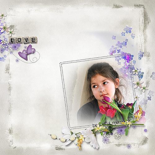 Jarní šeříková...koláž pro Vaše fotky