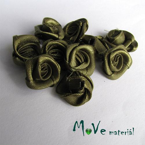 Růžička saténová khaki Ø15mm, 10kusů