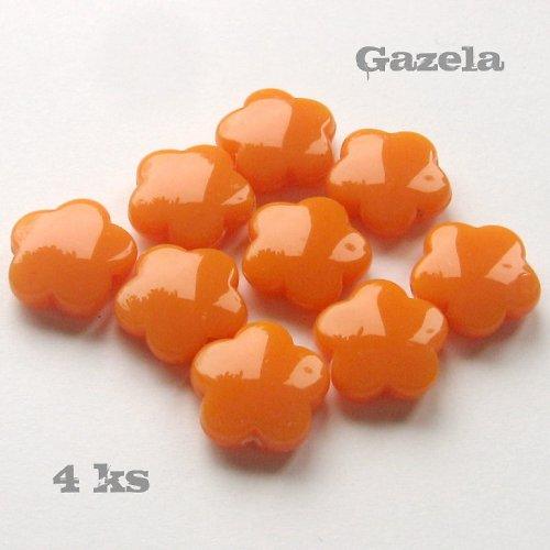 Kytičky oranžové - 4 ks