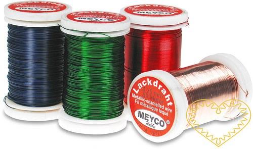 Červený či zelený drátek 0.35 mm, délka 50 m 1 ks