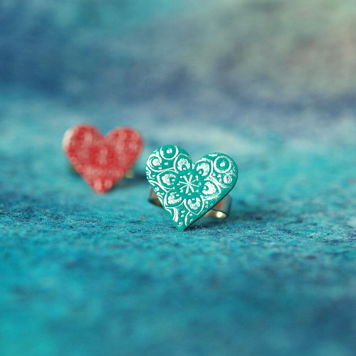 Prsten - Smaragdové srdce