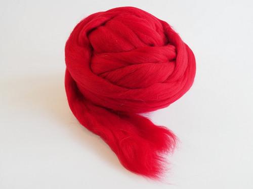 Španělská ovčí vlna - červená tmavá 20 g