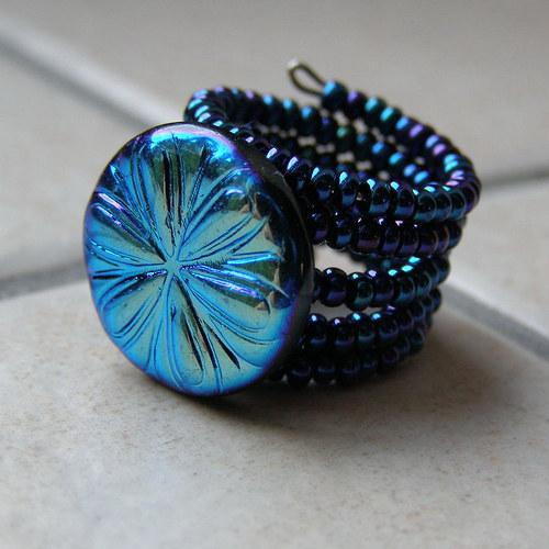 Prstýnek modrý
