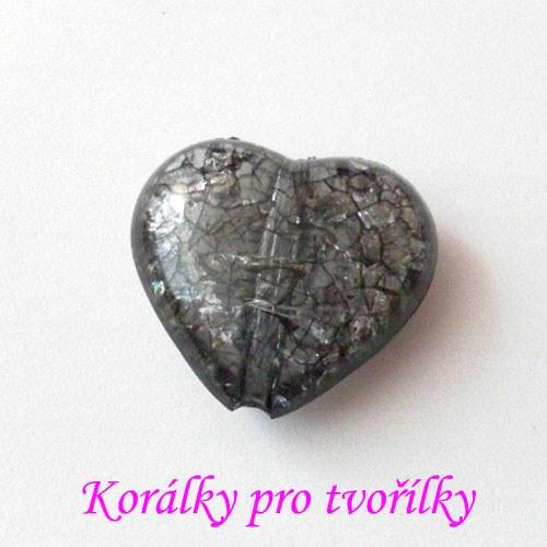 Akrylové srdce černé 1ks/8,- Kč