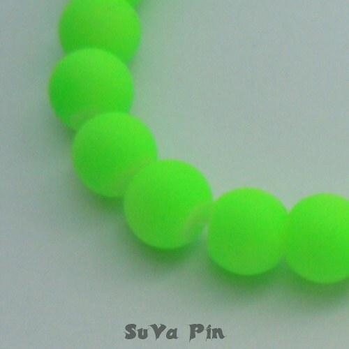 Korálky zelené 14mm; 10 ks