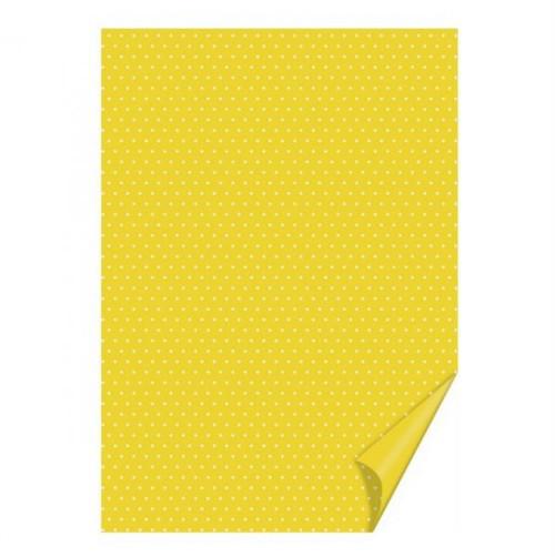 Barevný papír Heyda/Happy Paper/A4/Žlutý puntíkatý