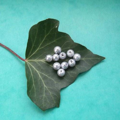Skleněné perličky 6mm šedé10ks
