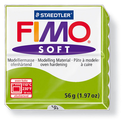 Fimo soft světle zelená 50