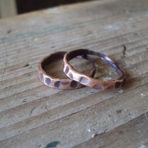 Stromová kůra měděná- prsten