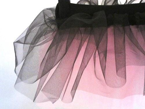 Baletní sukně černo-sětle růžová (3-6 let)