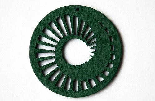 dřevěné kolečko 60 mm- středně zelené