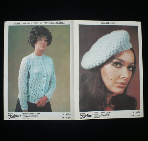 Popis na baret a svetr