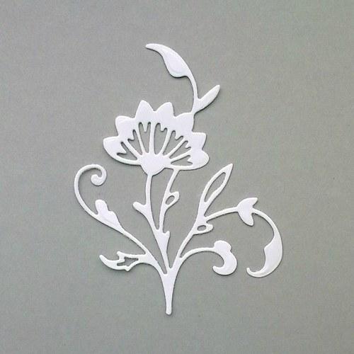 Výsek - Větvička s květem - barva dle přání