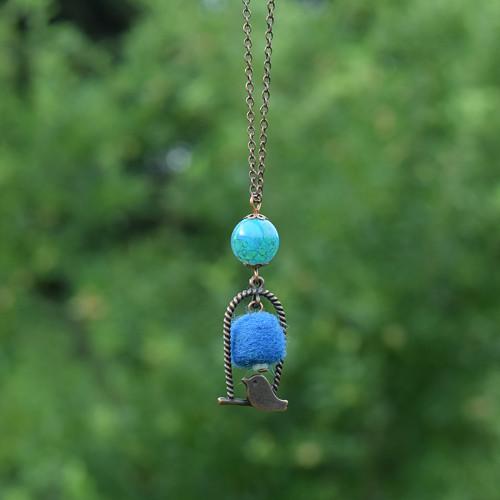 Ptáček s modří nad hlavou III.