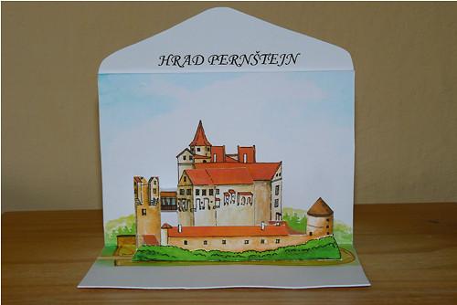 Prostorová pohlednice Pernštejn