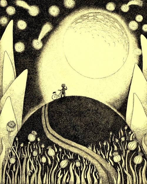 Autorský plakát Měsíc
